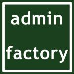 Admin Factory Redovisningsbyrå KB logotyp