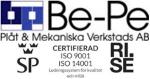 Be-Pe Plåt & Mekaniska Verkstad AB logotyp