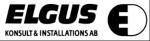 Elgus Konsult- och Installations AB logotyp