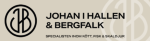 Johan i Hallen & Bergfalk AB logotyp