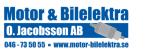 Motor & Bilelektra O Jacobsson AB logotyp