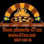 Nora Pizzeria 47:an AB logotyp