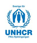 Sverige För Unhcr Insamlingsstift logotyp