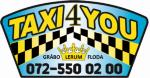 Taxi 4 you gråbo lerum floda ab logotyp